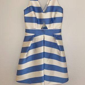 Blue & White Stripe Sundress w/ Cutout by Topshop